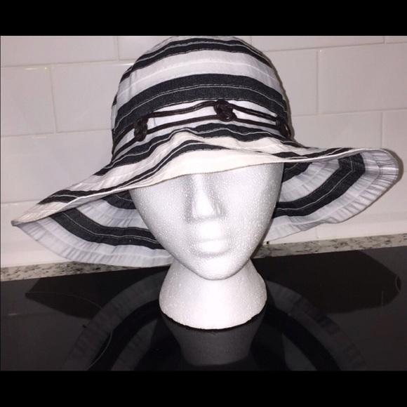 102a7b95194 UPF 50+ 👒☀ Ribbon Hat Black   White